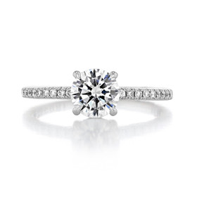 Simply Tacori Round Engagement Ring (267015RD65)