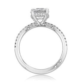 Tacori Petite Crescent Engagement Ring (267015RD75)