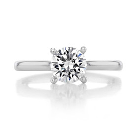 1 ct Round Gabriel Solitaire White Gold Engagement Ring (ER14982)