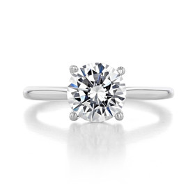 2 ct Round Solitaire White Gold Engagement Ring (FG87-200)