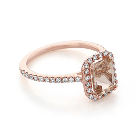 Rose Gold Morganite Engagement Ring (R1052-4)