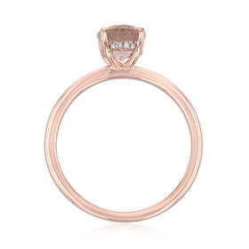 Rose Gold Morganite Engagement Ring (R1108)