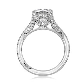 Platinum Tacori RoyalT Moissanite Engagement Ring (HT2627RD85-M)