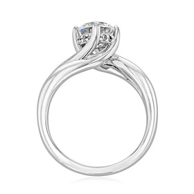 Twist Solitaire Engagement Ring (FG434)