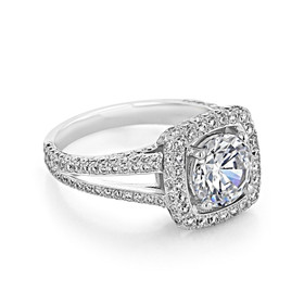 Pavé Halo Engagement Ring (CR193)