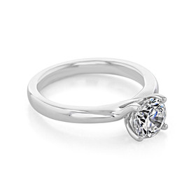 Hidden Halo Solitaire Engagement Ring (SO65)