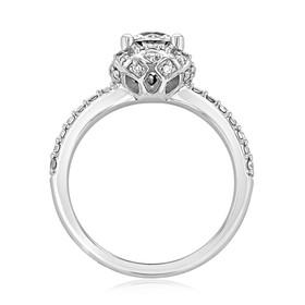 Micro-Prong Halo Engagement Ring (FG471)