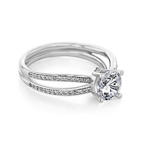 Twist Pavé Engagement Ring (MR11)