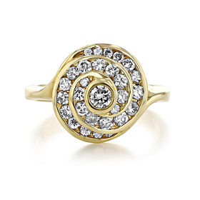 Swirl Diamond Fashion Ring (D46)