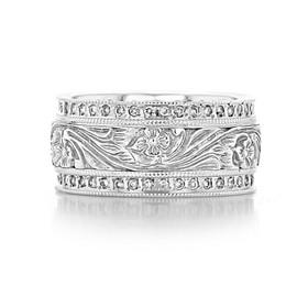 Engraved Diamond Band (FG321)