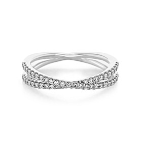 Criss Cross Micro-Prong Wedding Band (33-9350)