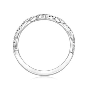 Twist Micro-Prong Wedding Band (FG58B)