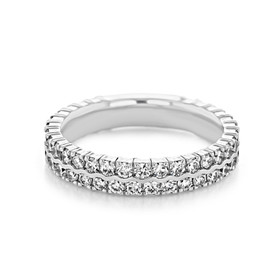 Double Pavé Set Wedding Band (LB246)
