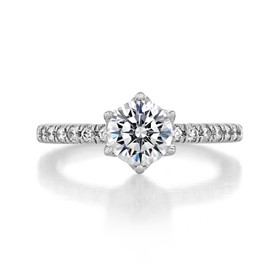 1 ct Round Micro-Prong White Gold Engagement Ring (FG10)