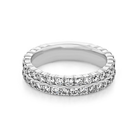 Double Pavé Set Wedding Band (LB247)