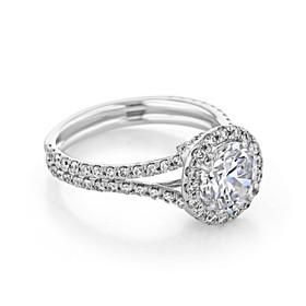 Halo Engagement Ring (CR166B)
