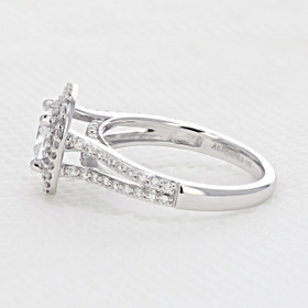Double Halo Engagement Ring (FG482)