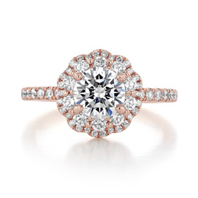 Double Halo Engagement Ring (FG486)