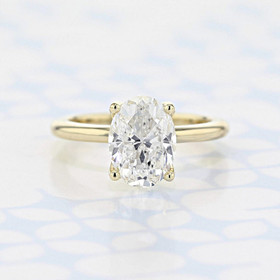 Solitaire Oval Shape Diamond Engagement Ring (2006622)