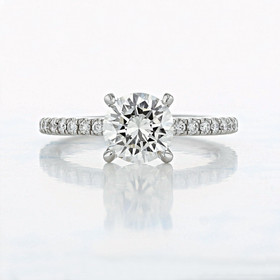 Micro-Prong Round Shape Diamond Engagement Ring (2006815)