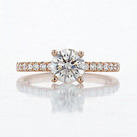 Micro-Prong Round Shape Lab Diamond Engagement Ring (2006739)