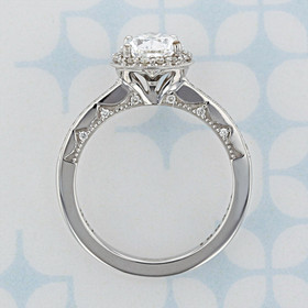 Tacori Coastal Crescent Pear Shape Diamond Engagement Ring (2006861)