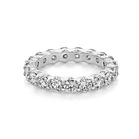 Shared Prong Wedding Band (CJ32)