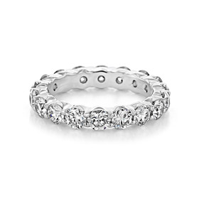 Shared Prong Wedding Band (CJ34)