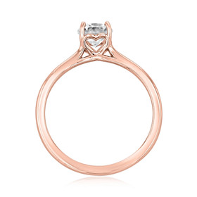 Rose Gold Grey Moissanite Solitaire (SO72-GM)