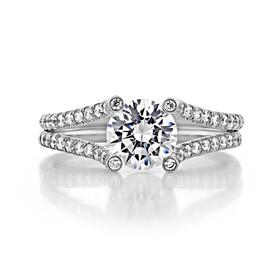1 ct Danhov Solo Filo Micro-Prong White Gold Engagement Ring  (SE101)