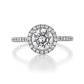1 ct Danhov Per Lei Halo White Gold Engagement Ring  (LE112)