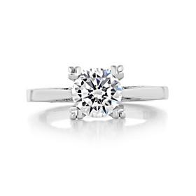 1.20 Ct. Round Moissanite  Platinum Simply Tacori Engagement Ring (2584RD7-M)
