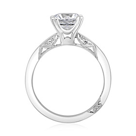 Platinum Simply Tacori Moissanite Engagement Ring (2584RD7-M)