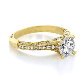 Tacori Yellow Gold Classic Crescent Moissanite Engagement Ring (2616RD65Y-M)