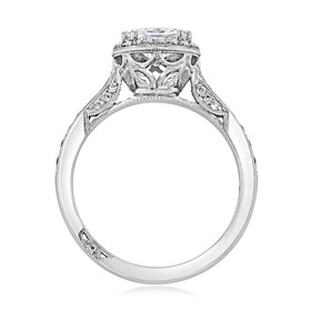 Platinum Tacori Pear Shape Dantela Moissanite Engagement Ring (2620PS10X7P-M)