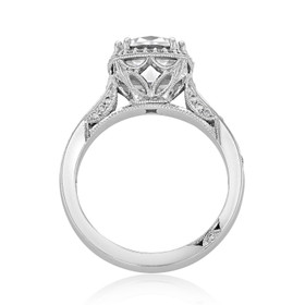 Platinum Tacori Dantela Moissanite Engagement Ring (2620RDLGP-M)