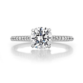 1 ct Danhov Classico Micro-Prong White Gold Engagement Ring  (CL138)