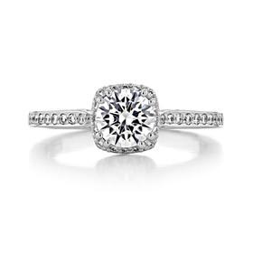 .60 Ct. Round Moissanite Tacori Dantela Halo Engagement Ring (2620RDPTP-M)