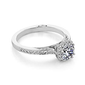 Tacori Dantela 5.5mm Moissanite Engagement Ring (2620RDPTP-M)