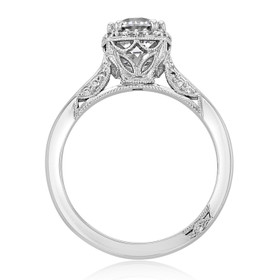 Platinum Tacori Dantela Moissanite Engagement Ring (2620RDSM-M)