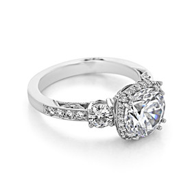 Platinum Tacori Dantela Moissanite Engagement Ring (2623RDLGP-M)