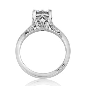 Platinum Tacori Dantela Moissanite Engagement Ring (2638RD75-M)