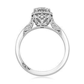 White Gold Tacori Dantela Moissanite Engagement Ring (2639RDP65-M)