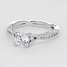Tacori Classic Crescent Moissanite Engagement Ring (2645RD61/2-M)