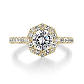 Tacori Petite Crescent Engagement Ring (HT2556R65Y)