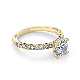 Tacori Petite Crescent Rose Gold Engagement Ring (HT2545RD65Y)