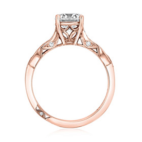 Rose Gold Tacori Ribbon Moissanite Engagement Ring (2648RD65PK-M)