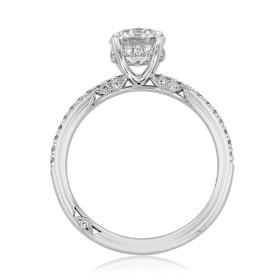 Simply Tacori Round Moissanite Engagement Ring (267015RD65-M)