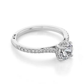 Simply Tacori Round Moissanite Engagement Ring (2671RD65-M)