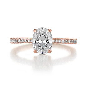 1.50 Ct. Oval Shape Moissanite  Rose Gold Simply Tacori Engagement Ring (2671OV8X6-M)